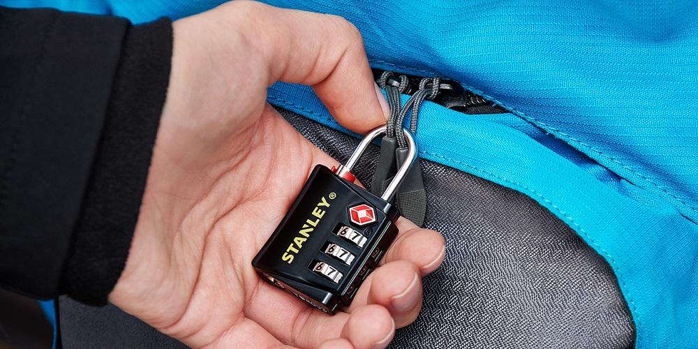 Cadenas TSA Code 4 Chiffres Cadenas Bagage pour Valise Voyage Cadenas Casier avec Fonction dalerte Ouverts et C/âble en Acier